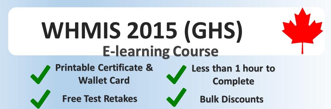 WHMIS 2015 Generic Online Training Course