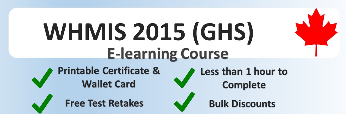 WHMIS 2015 Generic Online Training Course